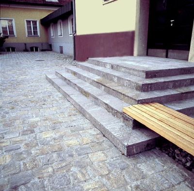 Stufenplatten aus Stainzer Gneis